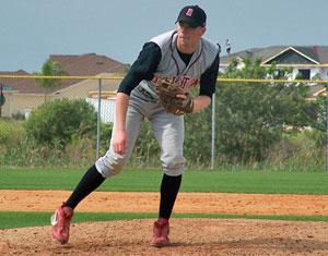 Baseball player on field