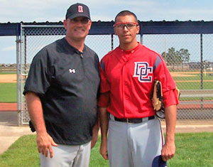 Coach Fratto with Alex Morales